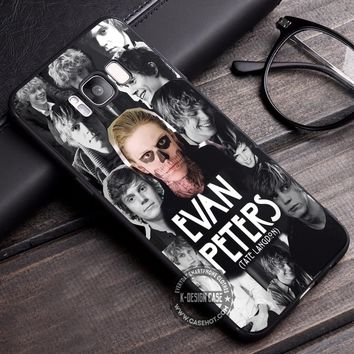 Evan Peters Tate Langdon Collage iPhone X 8 7 Plus 6s Cases Samsung Galaxy S8 Plus S7 edge NOTE 8 Covers #iphoneX #SamsungS8
