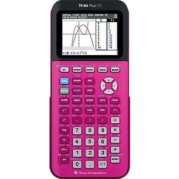 Texas Instruments TI-84 CE Color Screen Graphing Calculator, Pink | Staples