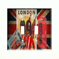 Light Switch Cover - Light Switch Plate London England Union Jack