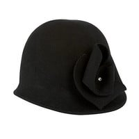 Flower trim cloche hat at debenhams.com