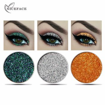 niceface Makeup 2018 New Glitter Eyeshadow Refill Palette Cosmetic Shimmer White Silver Gold Makeup Eyes Shadow Single Color