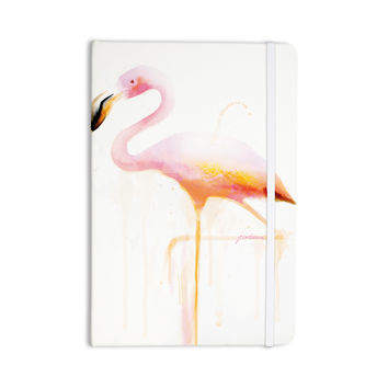 "Geordanna Cordero-Fields ""My Flamingo"" Pink White Everything Notebook"