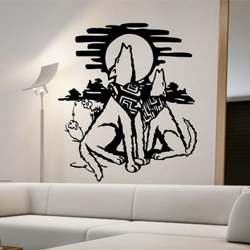 Wolves Wall Decal Version 2 Sticker vinyl Art Decor Bedroom Design Mural dreaming bedroom tribal howling wolf