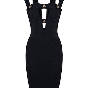 Metal Detector Black Bandage Dress