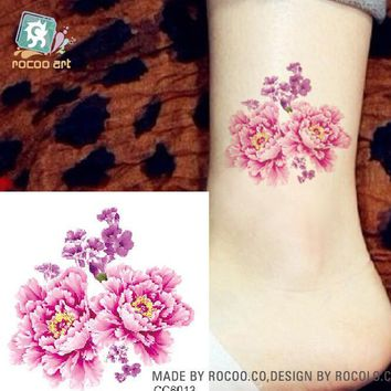 New style tattoo stickers waterproof sexy flowers small picture 6*6cm personalized flowers self - timer tattoo stickers