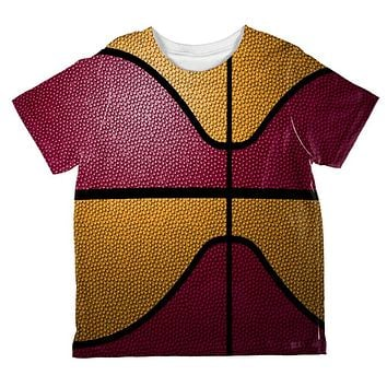 Championship Basketball Red and Yellow All Over Toddler T Shirt