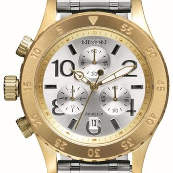 Nixon 'The 38-20' Chronograph Bracelet Watch, 38mm - Silver/ Gold/ Silver