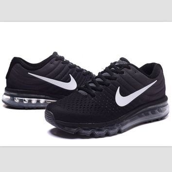 """""""NIKE"""" Trending Fashion Casual Sports Shoes AirMax section Black white hook"""
