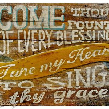 Come Thou Fount Print Fall Prints Hymn Art Print Christian Quote Christian Art Song Lyrics Art Music Print Christian Hymn Wall Art