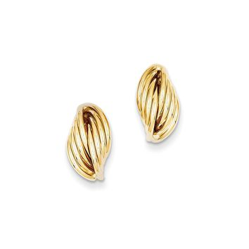 14K Yellow Gold Polished Fancy Post Earrings