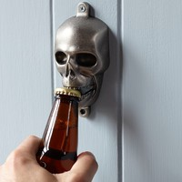 Novelty Wall-Mounted Bottle Opener, Skull