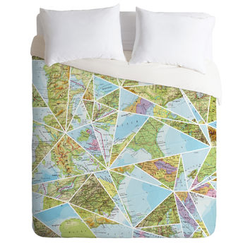 Fimbis Its A Mixed Up World Duvet Cover