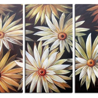Daisy Patch Canvas Wall Art