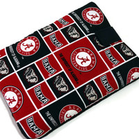 Hand Crafted Tablet Case Made From University of Alabama Team Fabric /Case for iPad, Kindle Fire HD, Samsung Galaxy, Google Nexus, Nook HD