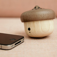 Kikkerland Design Inc » Products » Acorn Speaker + Bluetooth