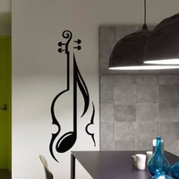 Wall Decal Vinyl Sticker Decals Violin Musical Instrument Wall Decor Art Mural Na48