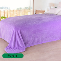 Throw Blanket - 100% Polyester Blanket for Adult Soft Plush Fleece Blanket Thicker Blankets on Sofa/Bed