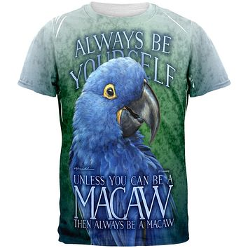 Always Be Yourself Unless Blue Hyacinth All Over Mens T Shirt