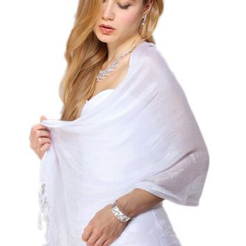 Luxurious Mesh Evening or Prom Shawl or Wrap