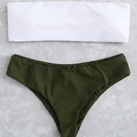 Two Tone Bikini Set