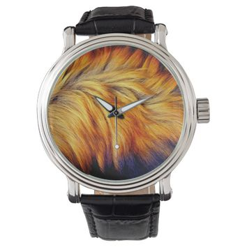 Cool brown horse tail fur texture background watch