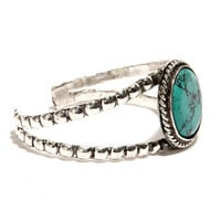 Round These Parts Silver and Turquoise Bracelet