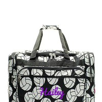 "Personalized Volleyball Black 17"" Kids Duffle Bag"