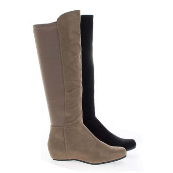 Entry Knee High Stretchy Shaft Zip Up Riding Boots