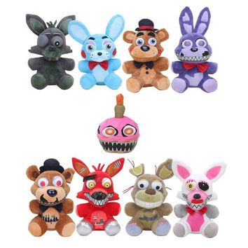 25cm Game  at  Sister Location  Nightmare Springtrap Bonnie Freddy Bear Phantom Foxy Plush Doll Toy