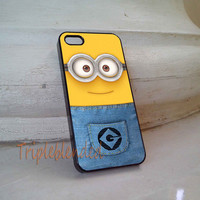 Minion face iPhone 5C Case, iPhone 5/5S Case, iPhone 4/4S Case, Samsung Galaxy S3/S4, Samsung Galaxy S5 Case Cover