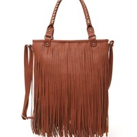 With Love From CA All Over Fringe Bag - Womens Handbags - Brown - NOSZ