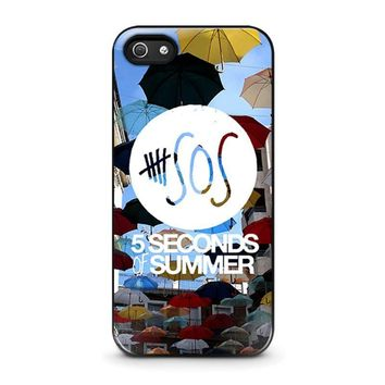 5 seconds of summer 4 5sos iphone 5 5s se case cover  number 1