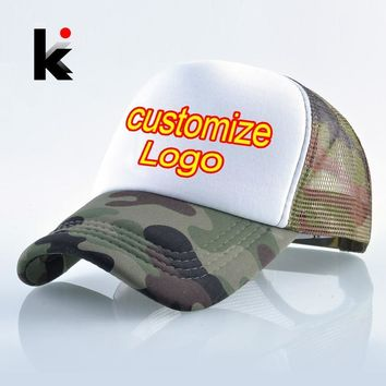 Trendy Winter Jacket Quick Custom Logo Fashion Print Baseball Cap Men Women Summer Mesh Hat Couple DIY 1PC Blank Customized Hat Snapback Trucker Bone AT_92_12
