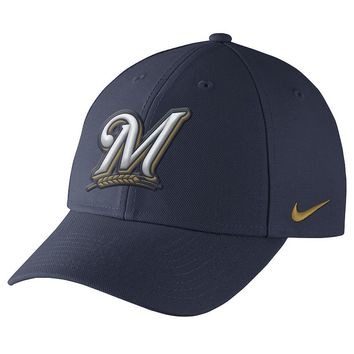 Nike Milwaukee Brewers Dri-FIT Wool Classic Baseball Cap - Adult, Size: One Size (Blue)