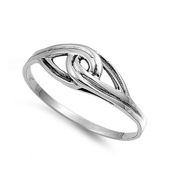 925 Sterling Silver Binding Promise 6MM Ring