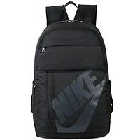 Nike Fashion Casual Sport Laptop Bag Shoulder School Bag Backpack Black+Dark Grey G