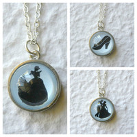 Cinderella Silhouette Double Sided Petite by TheGreenDaisyShop
