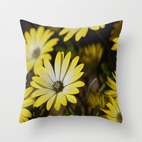 Retro Daisies Throw Pillow by Shalisa Photography | Society6