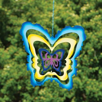 Multicolor Cutout Butterfly Hanging Ornament - New item! Pre-order for August!
