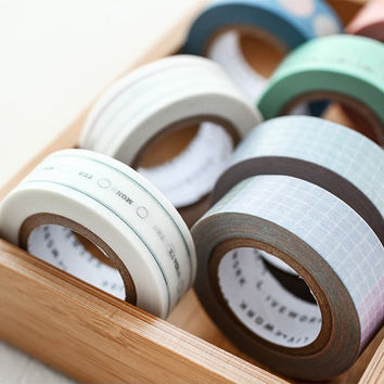Daily single deco masking tape