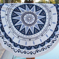 Cupshe Blue Starfish Tapestry