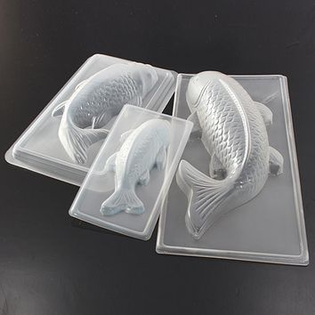 Carp Cyprinoid Fish 3D Cake Chocolate Mould Jelly Sugarcraft Mold Tool Baking Tools