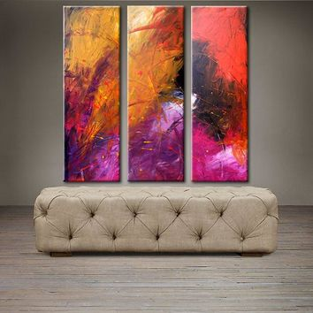 """'April022'-36"""" X 36"""" Original Abstract  Art. Free-shipping within USA & 30 day return Policy."""