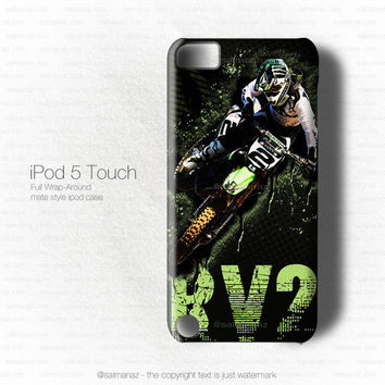 Ryan Villopoto RV2 Monster Volcom Motocross Team iPod 5 Touch Case