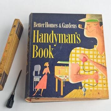 Vintage Handyman's Book 1957 home improvement