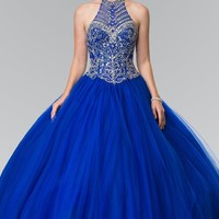Ball gown prom dress Quinceanera gown  gl2308blue