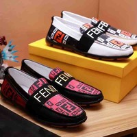 FENDI New fashion more letter men shoes single shoes two color
