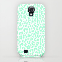 Samsung Galaxy S4 Case in Mint Leopard by M Studio