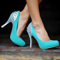 RESTOCK: Tiffany Blue Beauty Heels: Silver | Hope's