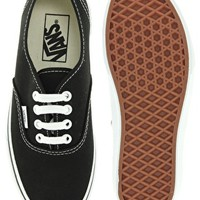 Vans Authentic Classic Black and White Lace Up Sneakers